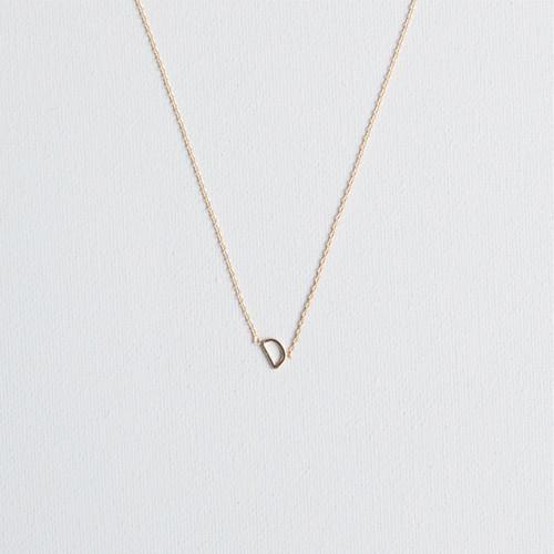 Gold D Necklace