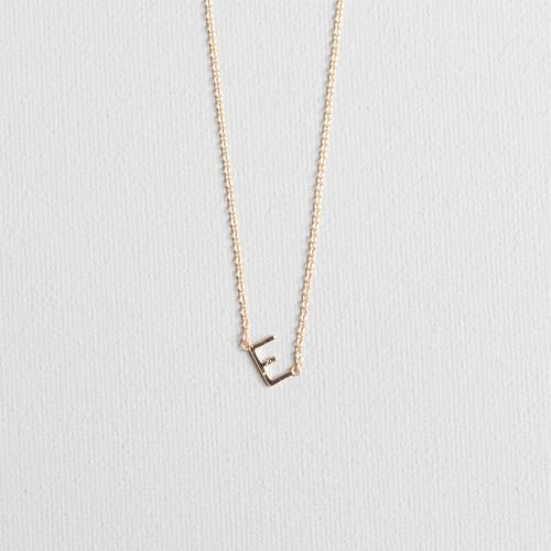 Gold E Necklace
