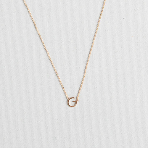 Gold G Necklace