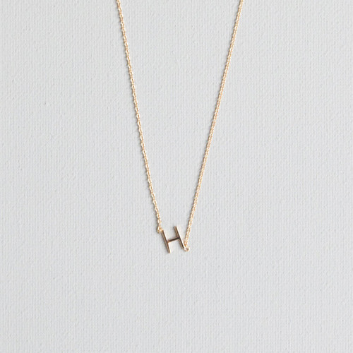 Gold H Necklace