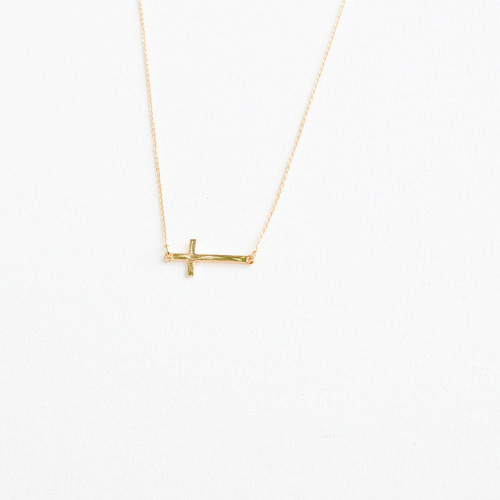 Gold Cross Necklace 2