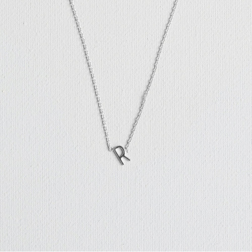 Silver R Necklace