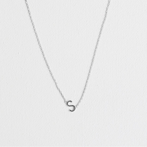 Silver S Necklace