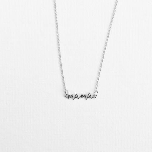 Silver Mama Necklace
