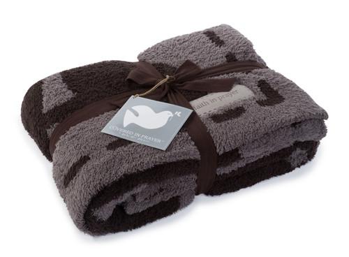Prayer Charcoal Blanket