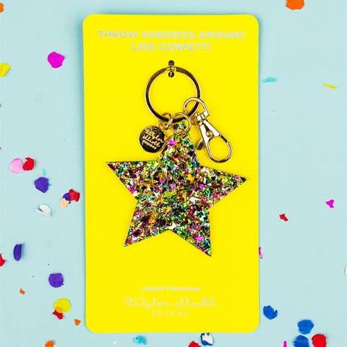 Confetti Star Keychain