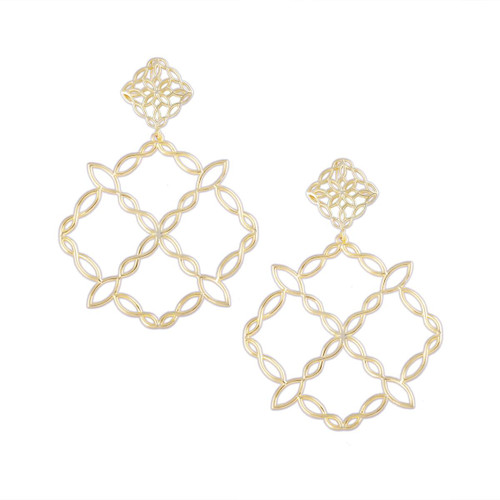 Bloom Gold Statement Earrings
