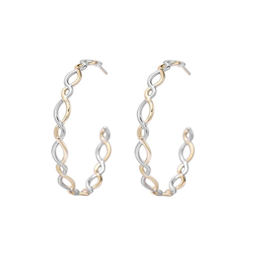 Bloom Gold/Silver Hoop Earring