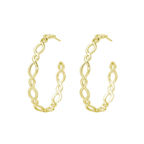 Bloom Gold Hoop Earring