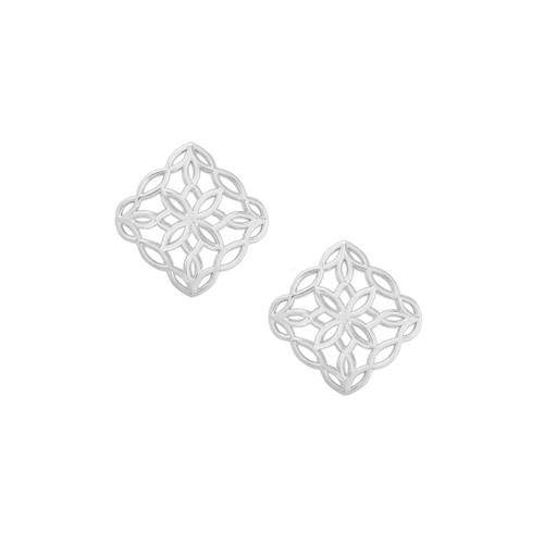 Bloom Silver Stud Earring