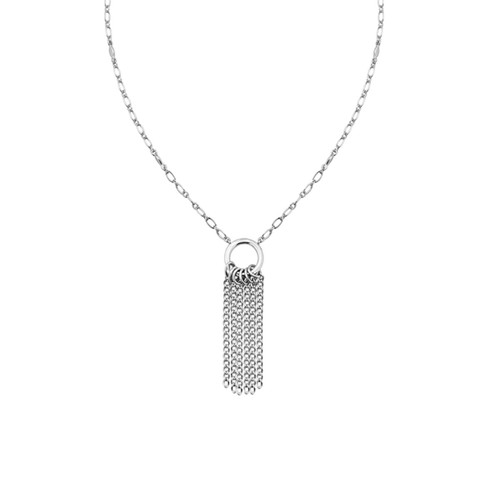 Grace Mini Tassel Silver Necklace