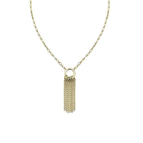 Grace Mini Tassel Gold Necklace