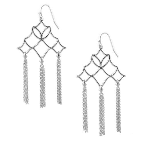 Southern Charm Silver Tassel Earring