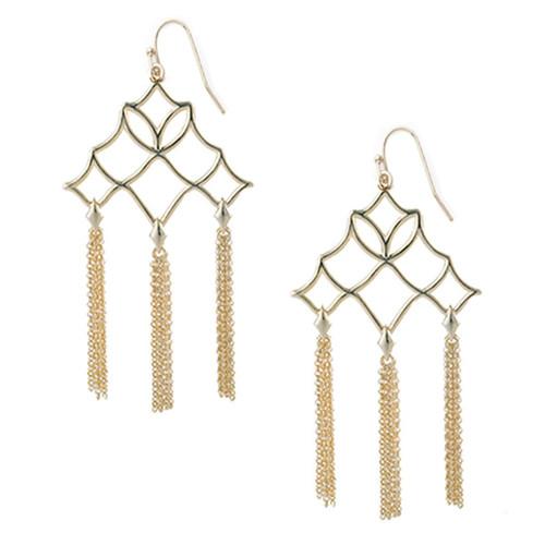 Southern Charm Gold Tassel Earring