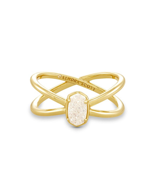 Emilie Double Band Ring Gold Iridescent