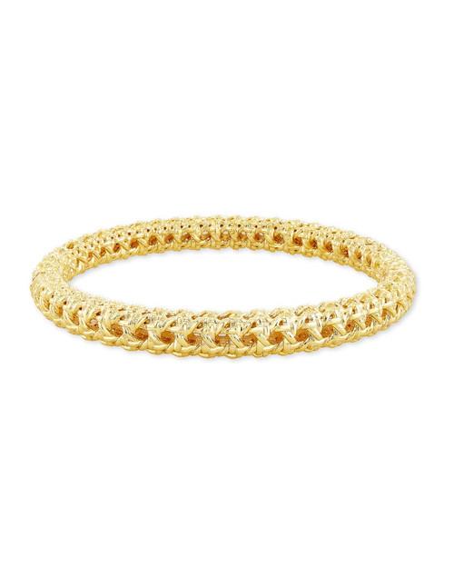 Natalie Hinge Bangle Bracelet Gold S/M