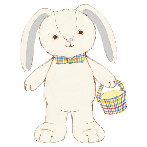 Plush Hoppy Easter Bunny Singing Stuffed Animal w/ Motion