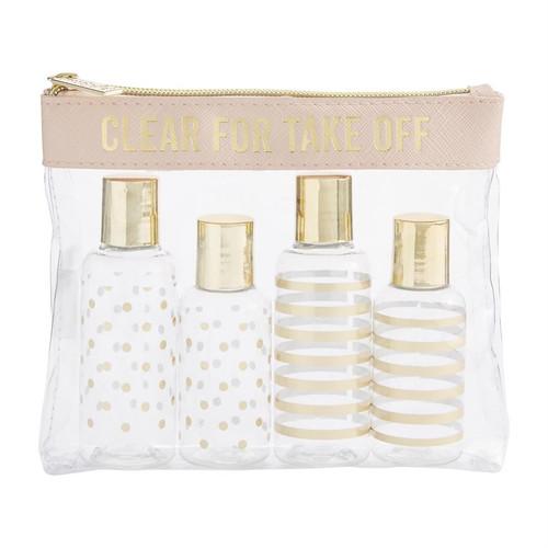 Clear Travel Kit Blush