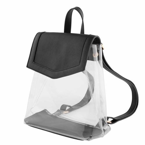 Clear Backpack Black
