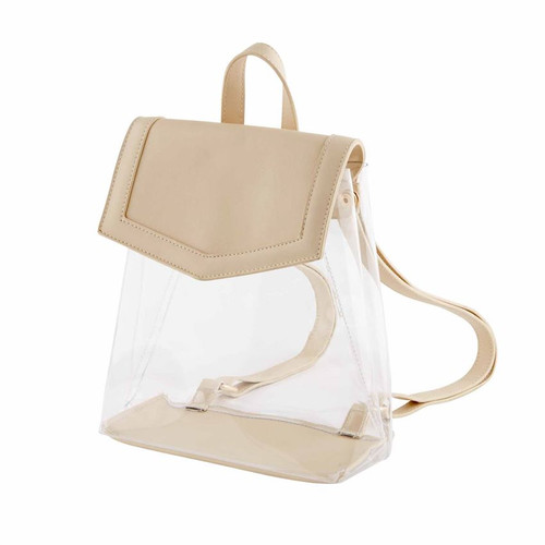 Clear Backpack Nude