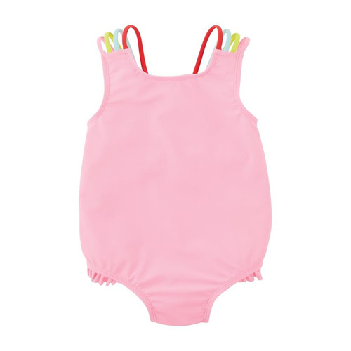 5T Pink Crochet Flower Swimsuit