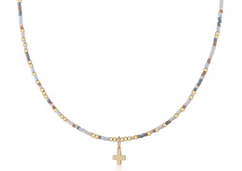"Shell Yeah 15"" Choker Gold Cross Necklace"