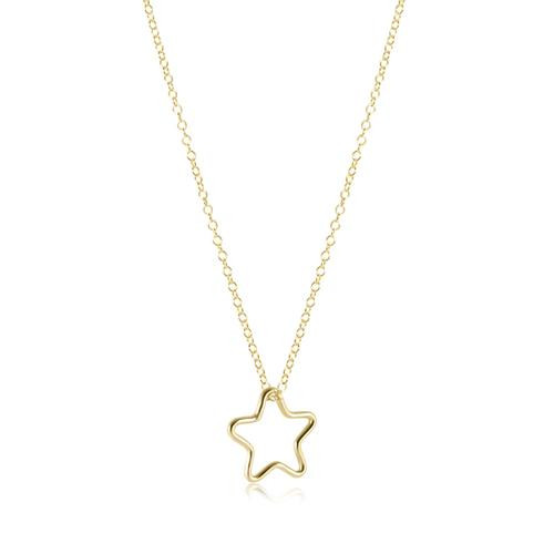 """Star Gold Necklace 16"""""""