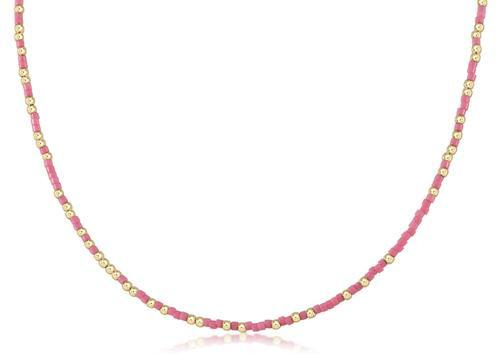 """Pink Hope Unwritten 15"""" Choker Necklace"""