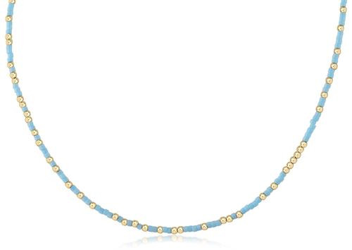 """Turquoise Hope Unwritten 15"""" Choker Necklace"""
