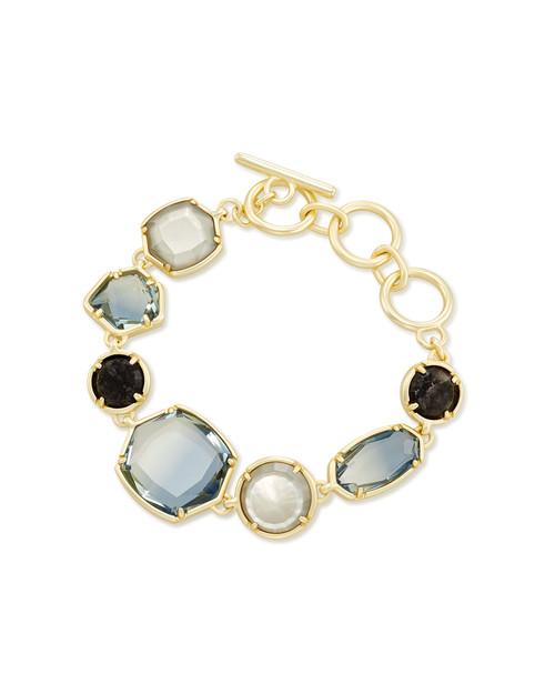 Natalia Link Bracelet Gold Steel Gray Mix