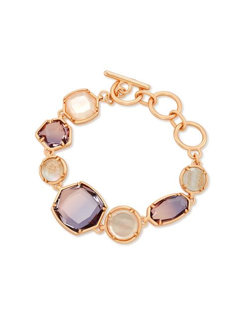 Natalia Link Bracelet Rose Gold Peach Mix