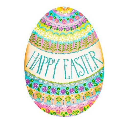 Happy Easter Egg Folk Art
