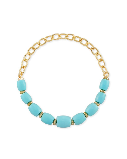 Demi Stretch Light Blue Magnesite Bracelet