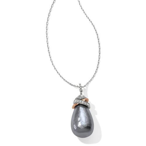 Neptunes Rings Grey Pearl Necklace
