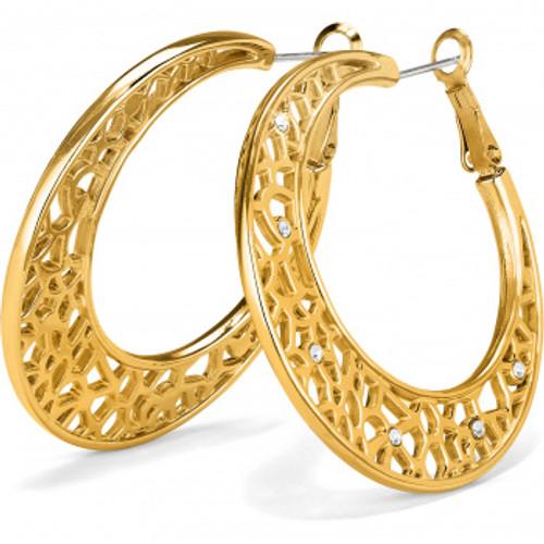 Fiji Sparkle Gold Hoop Earring