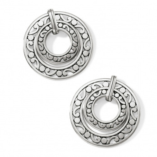 Contempo Open Ring Duo Post Drop Earring
