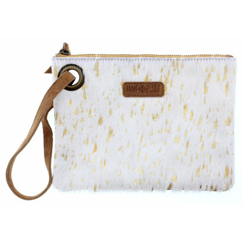 Mable Wristlet White Gold Cowhide