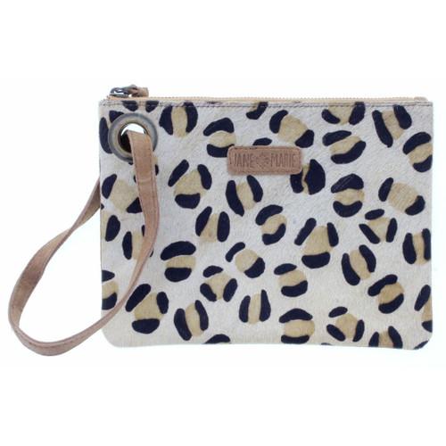 Jungle Wristlet Leopard & Suede