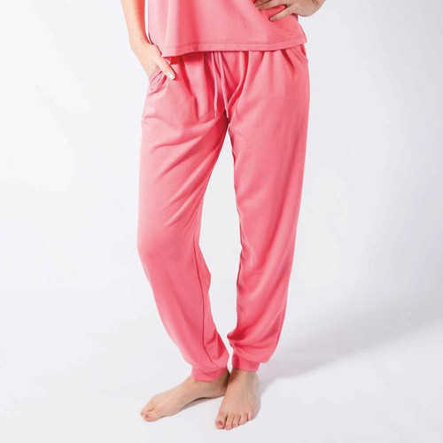 Large Coral Piper Loungewear Pants