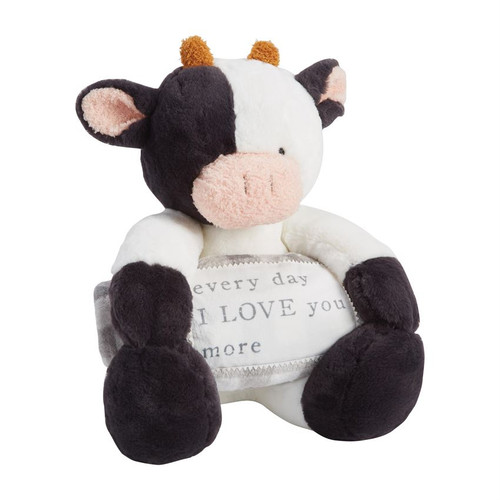 Cow Plush With Blanket