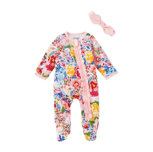 6m Floral Sleeper & Headband
