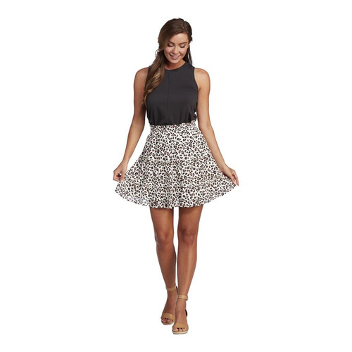 Medium Susie Flounce Skirt Leopard