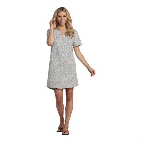 Small Cassidy V Neck Dress Gray