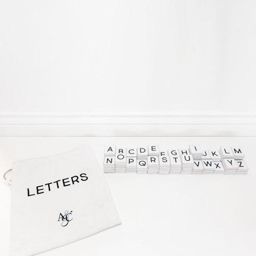 White Letter Bag  110 pc