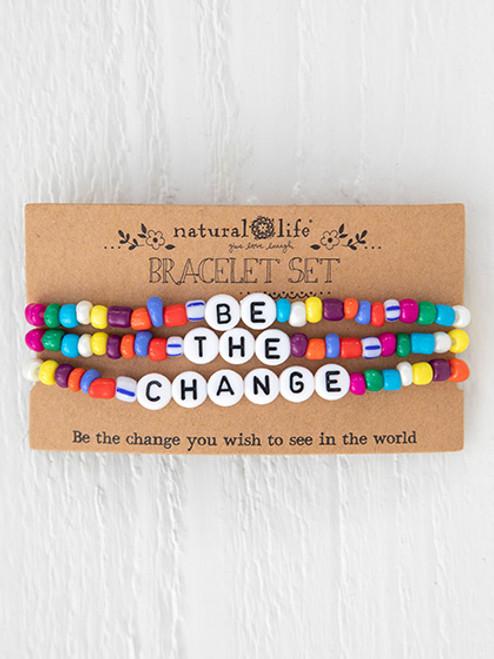 Be The Change Bracelet Set of 3