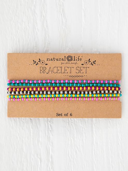 Seed Bead Bracelet Set Multicolor
