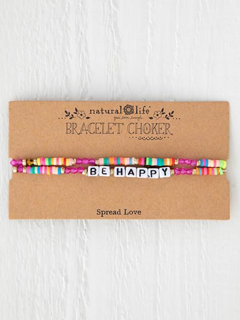 Be Happy Bracelet Choker