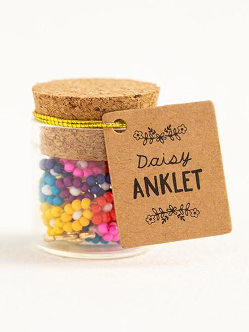 Rainbow Daisy Anklet