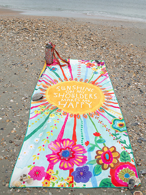 Sunshine Microfiber Beach Yoga Towel