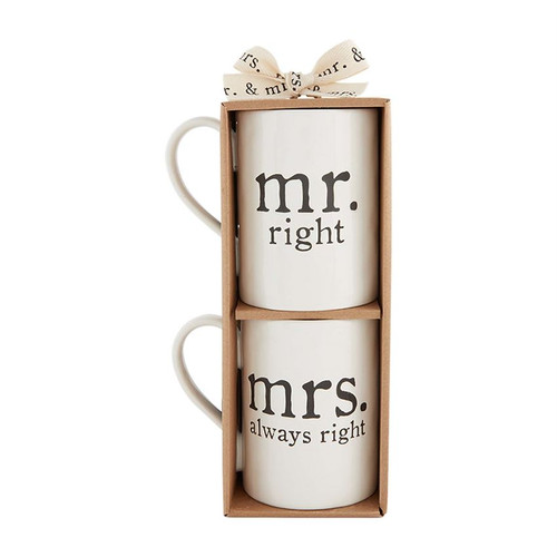 Mr and Mrs Right Mugs